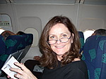 Sandra on flight