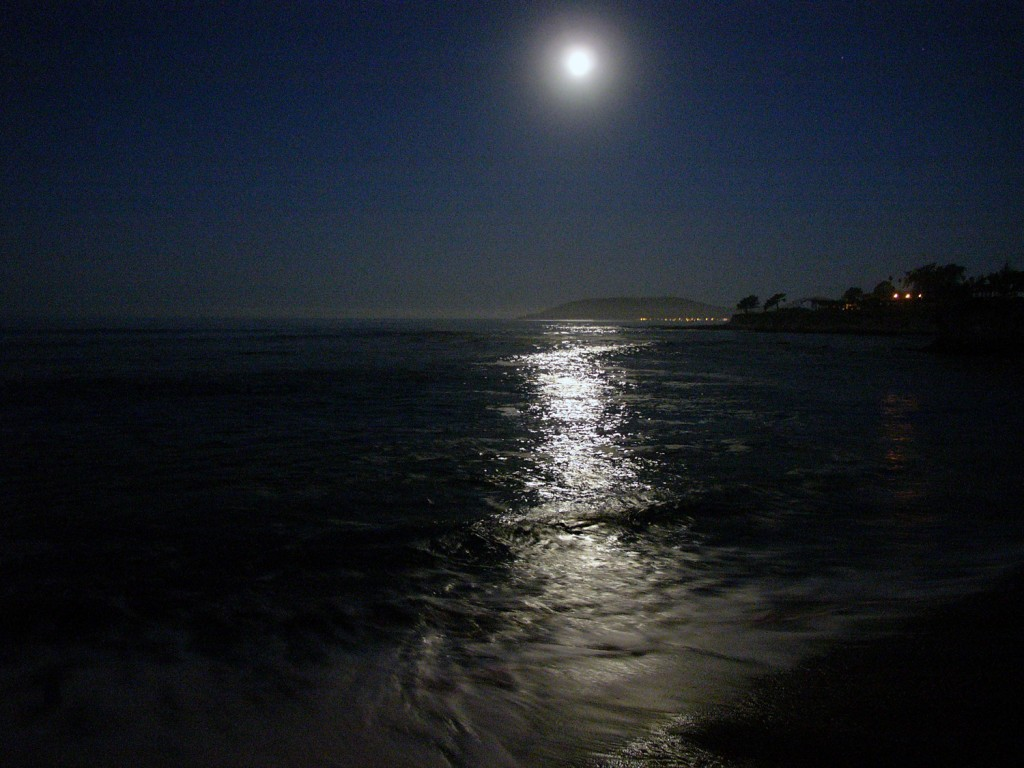 Full Moon Setting over Avila Beach California
