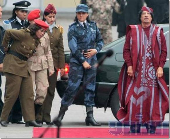 Muammar Gaddafi amazonian guards
