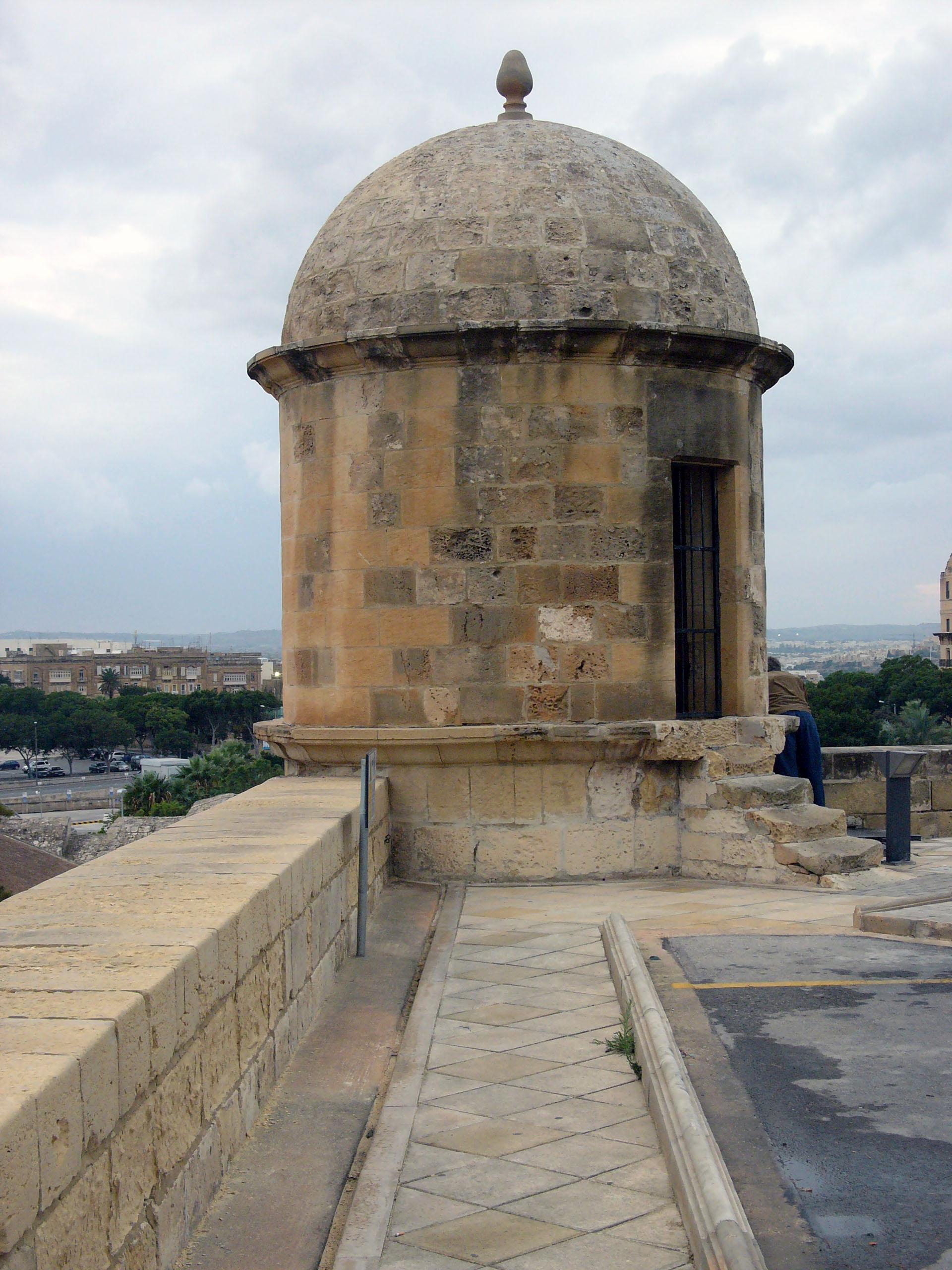 City Ramparts And Upper Barrakka Gardens Valletta Malta
